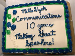 Public speaking trainer MillsWyck Communications
