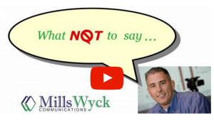 What NOT to Say Video Series with Public Speaking Don'ts