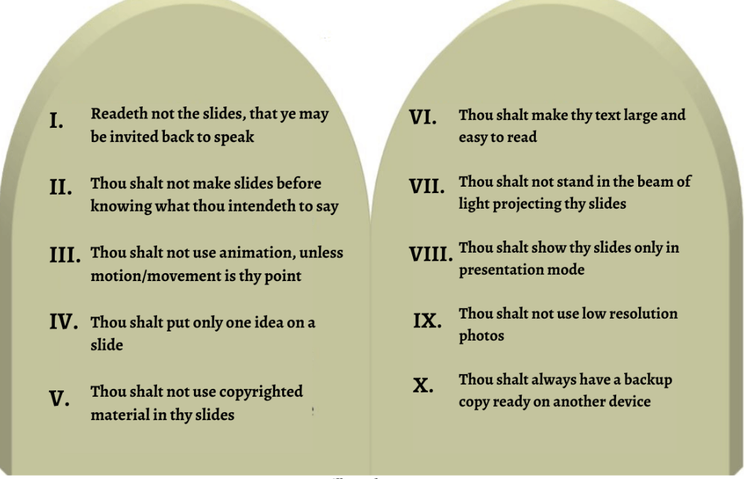 The Ten Commandments of PowerPoint