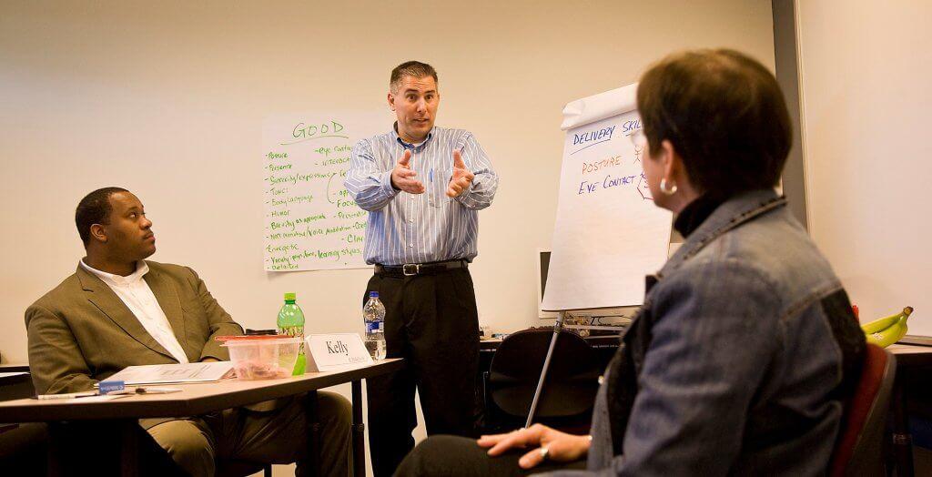 Alan teaching a class